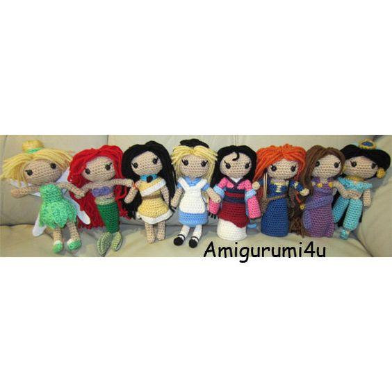 Amigurumi Join : Disney Princess Amigurumi Crochet Doll Tinker Bell Ariel ...
