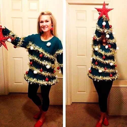 Los Disfraces Caseros Para Navidad Más Originales Trucos Y Astucias Disfraces Navideños Suéter Feo De Navidad Halloween Disfraces