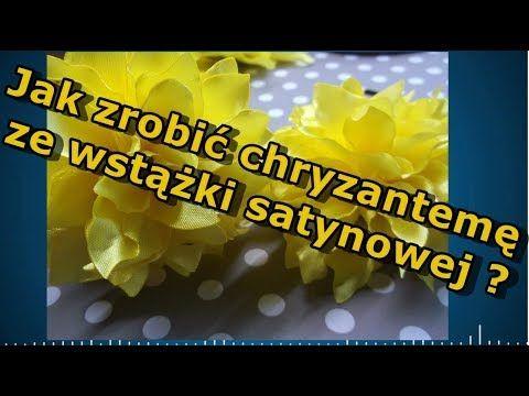 Jak Zrobic Chryzantema Ze Wstazki Satynowej Chryzantema Ladydiy Youtube Lockscreen Screenshot