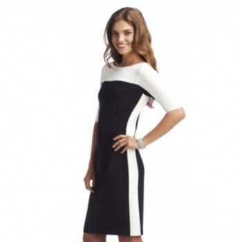 Chaps Colorblock Sheath Dress - Women&-39-s- Kohl&-39-s sport stripe ...