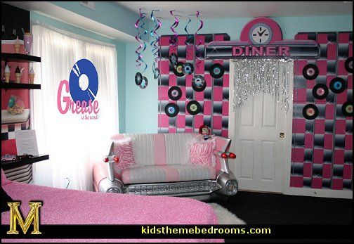 Music party ideas 1950s retro decorating style for 1950s decoration ideas
