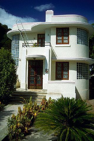 402 best deco facade images on Pinterest Art deco home, Art deco - Facade Maison Style Moderne