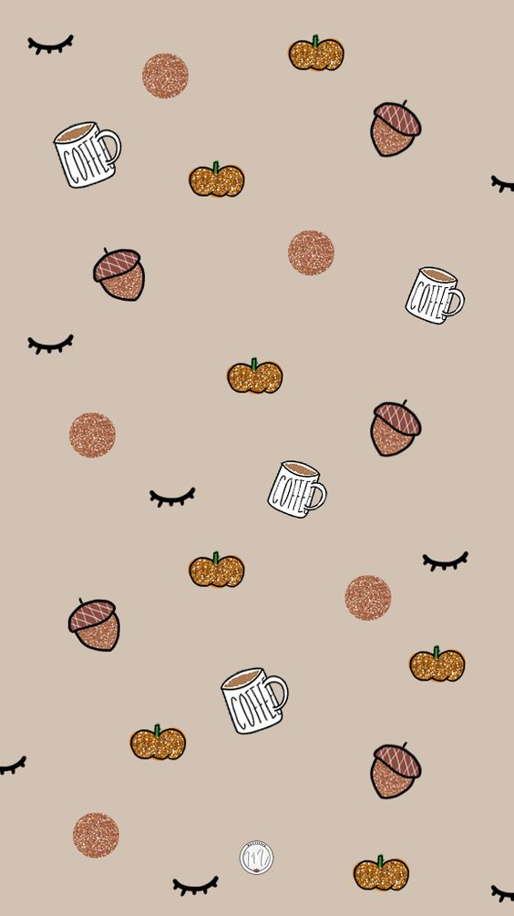 Free smartphone background for fall / Fond d'écran gratuit pour téléphone sur le thème de l'automne #fall #autumn #wallpaper #background #pumpkin #illustration #automne #coffee #fallillustration #autumnillustration #iphonebackground #mailyseven
