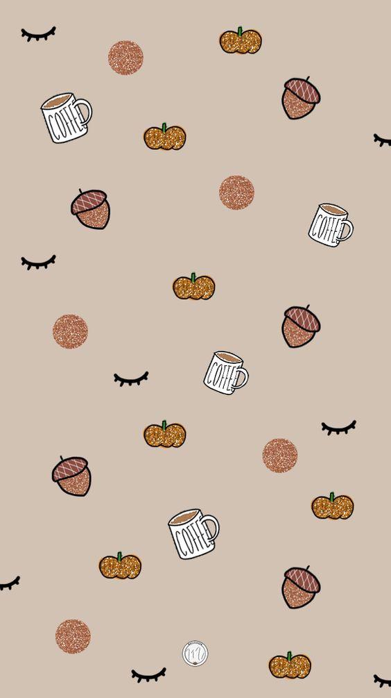 Free smartphone background for fall / Fond d'écran gratuit pour téléphone sur le thème de l'automne #fall #autumn #wallpaper #background #pumpkin #illustration #automne #coffee #fallillustration #autumnillustration #iphonebackground #mailyseven