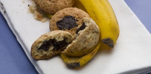 #Biscoitos de #banana com #pepitas de #chocolate