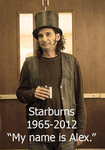 I missed last week's Community and Starburns dies in a meth lab explosion !!! Nooooooo