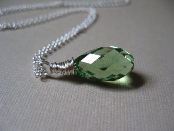 Swarovski crystal silver necklace