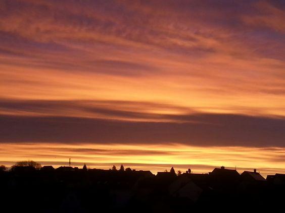 Sonnenaufgang heute, 24. Dezember, in Haibach