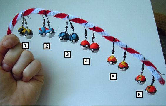 Handmade Pocket Monster Ball Earrings by Pokemore on Etsy, $4.99