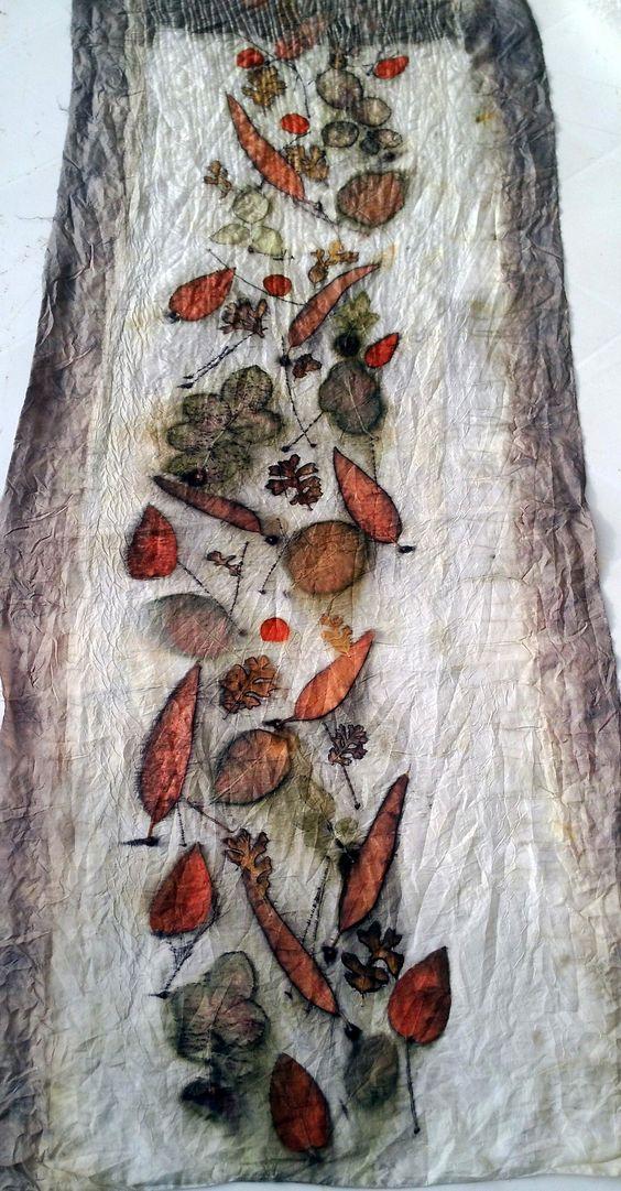 Eco Print on silk - by Cherie Livni