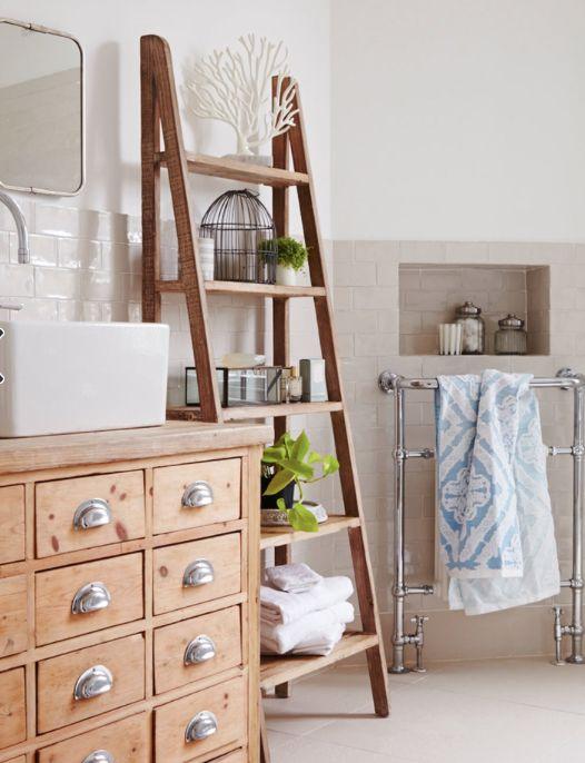 Meuble de mercerie pour lavabo Houzz via Nat et nature | salle de ...