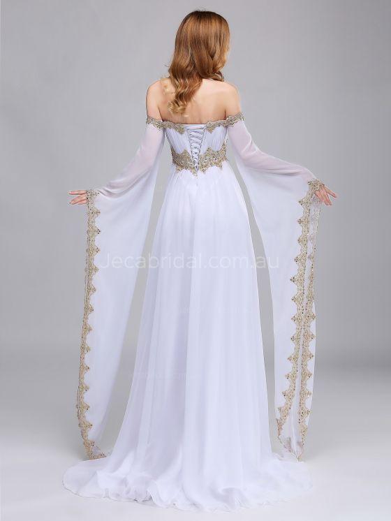 Schulterfrei Mittelalterliches Brautkleid W1064 Brautkleid Mittelalterliches Schulterfrei W1064 Medieval Wedding Dress Dresses Fantasy Dress