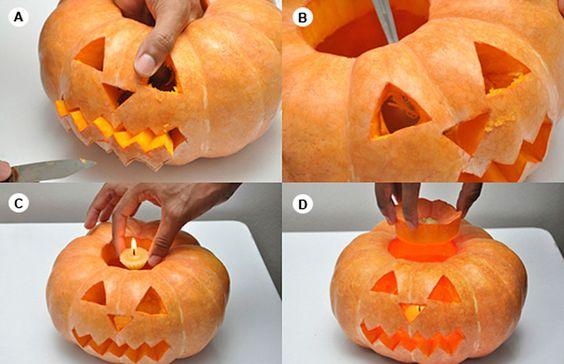 Como fazer uma abóbora iluminada para o Halloween - BBel :: Tudo sobre decoração e organização da sua casa