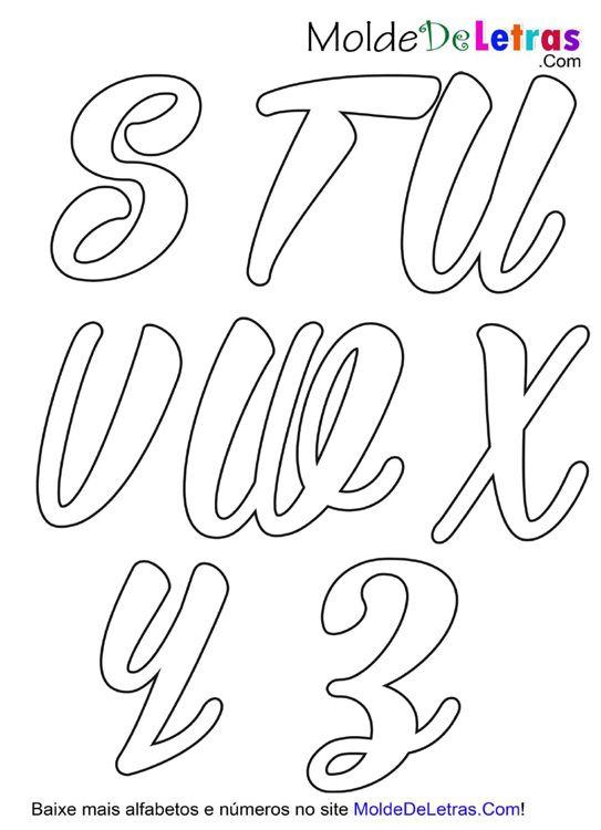Baixe Agora Molde De Letras Cursivas Bira Alfabeto Em 2
