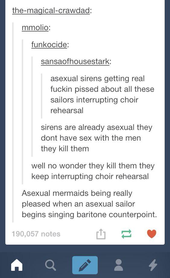 Asexual mermaids