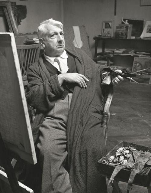 Giorgio de Chirico in his Studio, 1952. Photo by Herbert List: