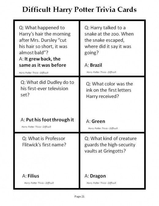 180 Printable Trivia Questions For Harry Potter And The Sorcerer S Stone Hobbylark In 2020 Harry Potter Questions Harry Potter Facts Hard Harry Potter Trivia