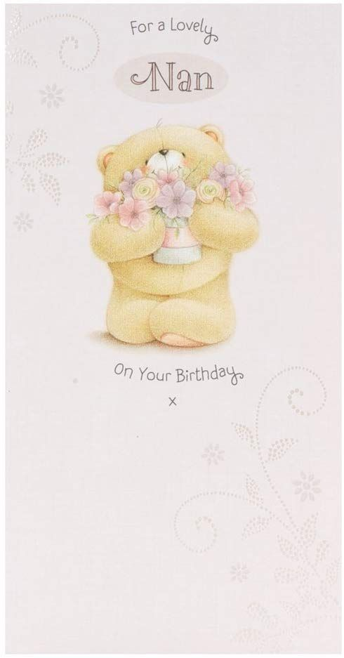 Hallmark Forever Friends Birthday Card For Nan With Lots Of Love Medium Slim Amazon Co Uk Offic Birthday Cards For Friends Friend Birthday Birthday Cards