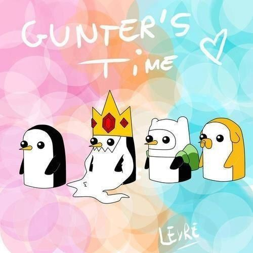 Adventure Time- OMG I love Gunther 3 times the Gunther 3 x the cuteness!!!
