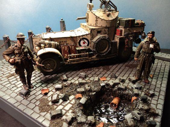 1:35 Diorama,British Armoured Car.