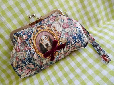 Purse with an adorable dog