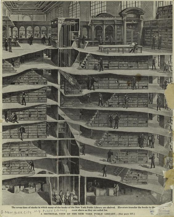 NEW YORK PUBLIC LIBRARY STACKS, 1907-1911