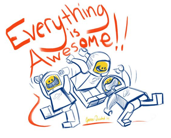 everything is awesome coloring / drawing