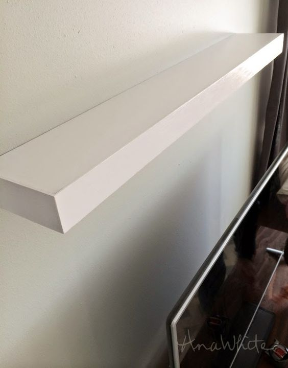 Ana White | Build a Modern Floating Shelf | Free and Easy DIY Project and Furniture Plans