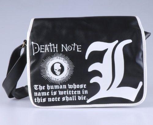 DEATH NOTE fashion L-logo black bag
