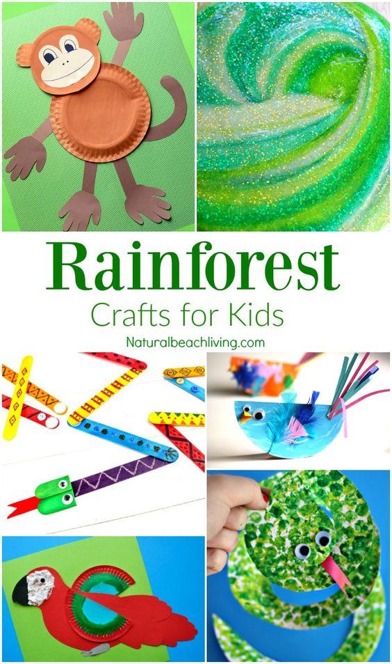10 Amazing Rainforest Crafts Kids Can Make Natural Beach Living Rainforest Crafts Rainforest Activities Jungle Theme Activities Rainforest activity for kindergarten
