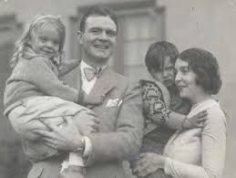Tom Gallery with their birth daughter & Zasu PItts holding their son, who's mother was Zasu's friend, the silent film star Barbara La Marr.