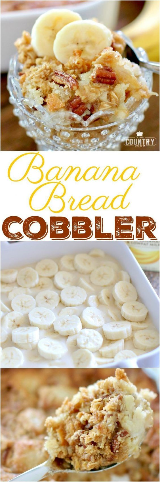 Homemade banana bread cobbler