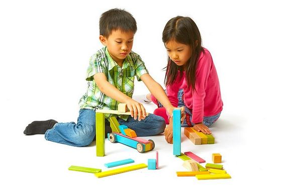 Tegu magnetic building block sets, now in 130-piece and 480-piece sets. Killer gift!