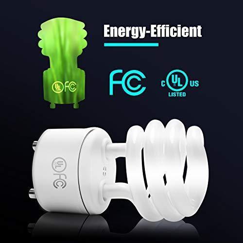 Gu24 Cfl Light Bulbs Jackyled 4 Pack Ul T2 Spiral 13w Gu24 Base 2700k Warm White Fluorescent Light Bulb Light Bulbs Bulb