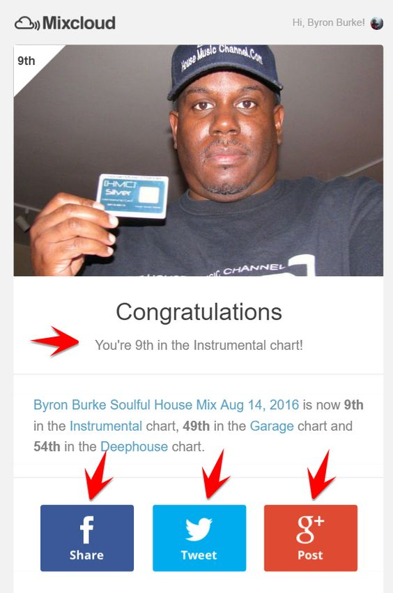 Byron Burke Soulful House mix is now 9th in the #Instrumental charts Mixcloud -   This mix features music from The Foremost Poets, Kerri Chandler Feat Teule, Eric Kupper, Blaze, Floetry and more!  This is for all the true House Heads that are not afraid to dance and sweat!  Let's Move!!!  http://bit.ly/2aW7dOl