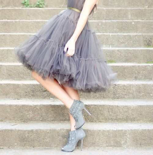 Love booties with floaty skirt