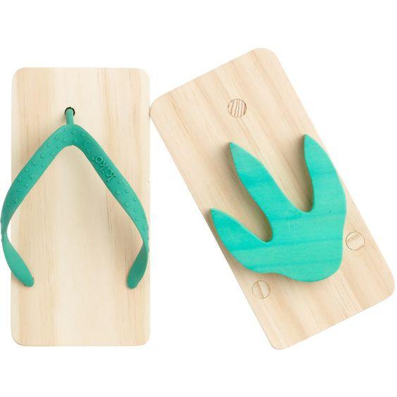 Kiko Green Wooden Animal Print Toy Beach Sandals found on Polyvore