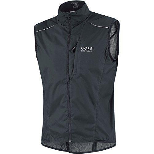 Gore Bike Wear Men's Countdown Active Shell Vest,Black,X-Large - http://ridingjerseys.com/gore-bike-wear-mens-countdown-active-shell-vestblackx-large/