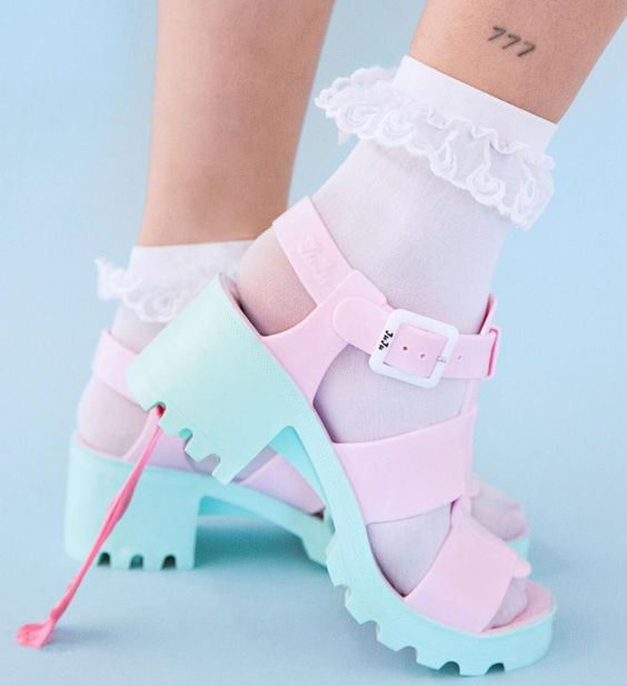 Juju Shoes - Cotton Candy Kyra Sandals