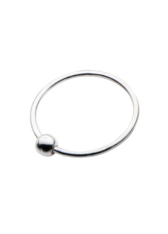 Body Vibe Sterling Silver Split Ring Nose Hoop