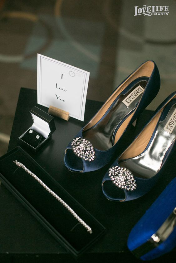 Hotel Monaco DC wedding. Badgely Mischka shoes. Photo by Love Life Images