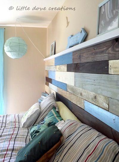 Idee Holzfarben am Bett