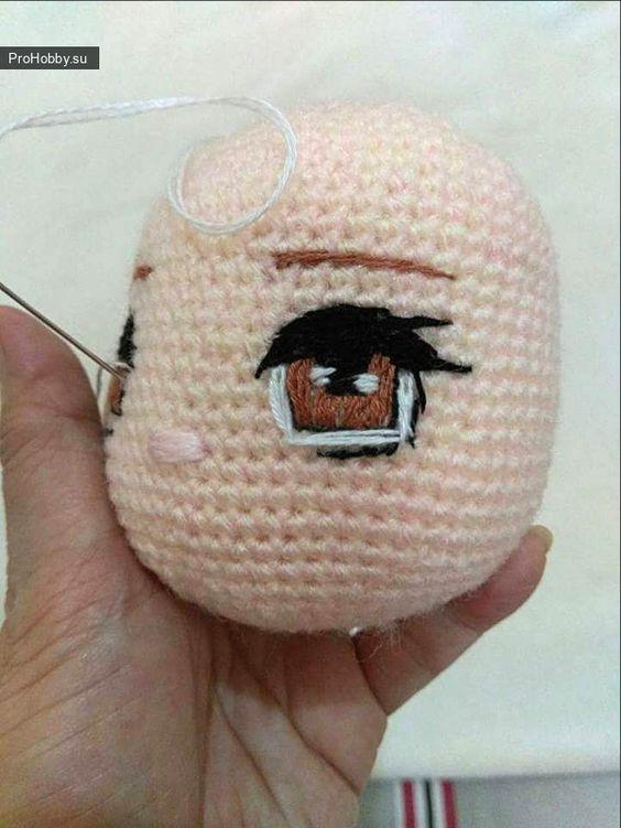 Вышиваем глазки / Вязание игрушек / ProHobby.su   Вязание игрушек спицами и крючком для начинающих, мастер классы, схемы вязания