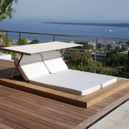 Moderne Sonnenliege Aus Teakholz Edelstahl Fur Den Garten Sundeck Honeymoon Sonnenliege Doppelliege Garten Doppelliege