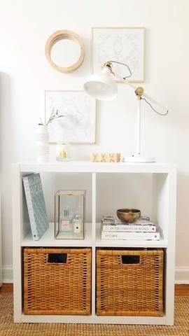 Ikea Kallax Bedside Table White Room Decor Bedroom Decor On A
