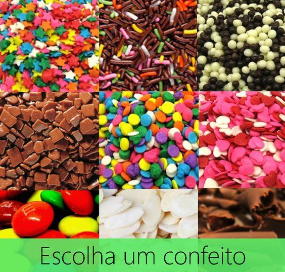 Escolha o confeito certo para deixar sua delícia ainda mais bonita e gostosa!