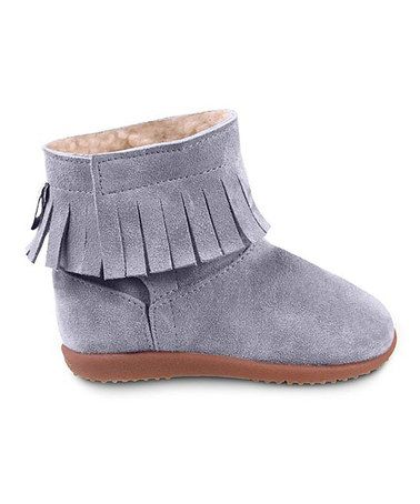 Purple Tiger Lily Suede Boot