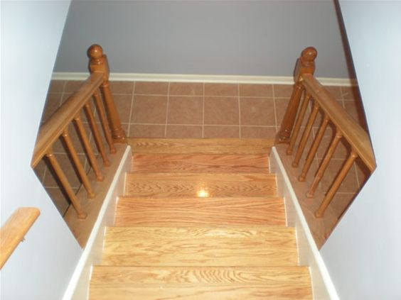 basement stairs treads stair treads basement pinterest exposed