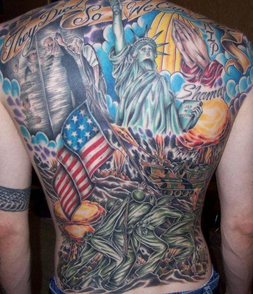America, Red and Tattoos and body art on Pinterest
