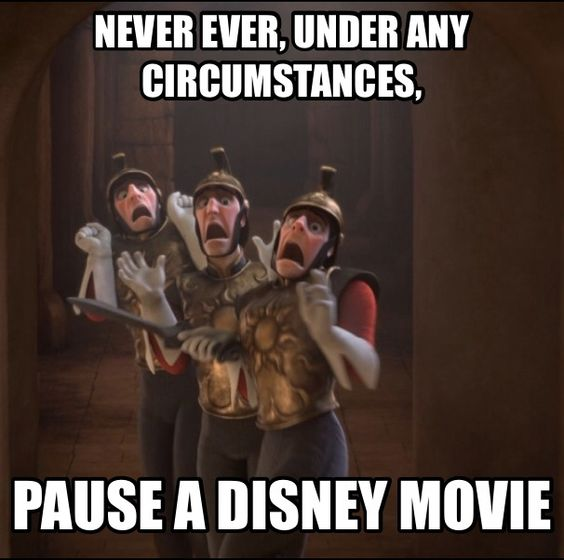 this IS exactly why you pause a Disney movie